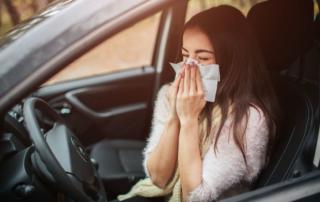 Consejos para conducir con alergia