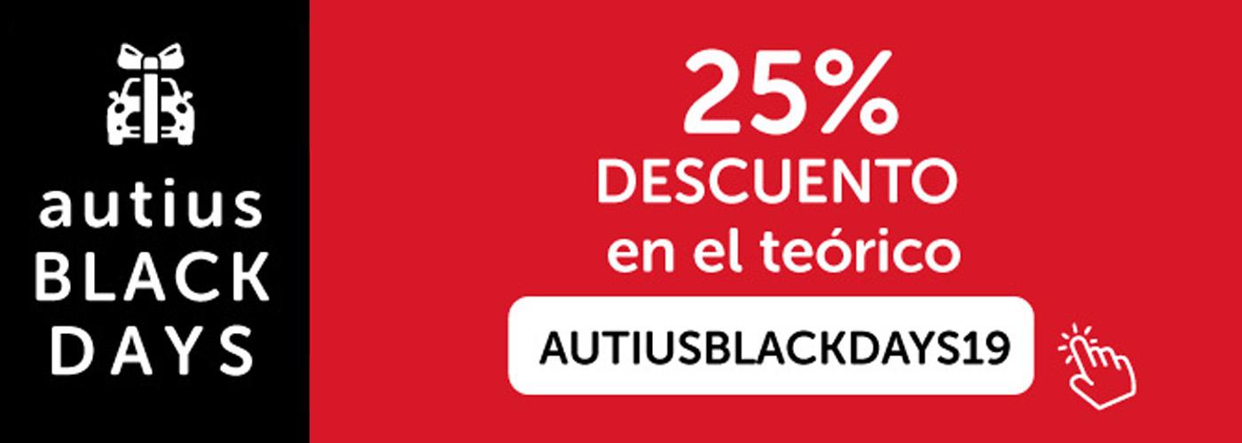 Promocion Black Friday autius autoescuela en zaragoza actur