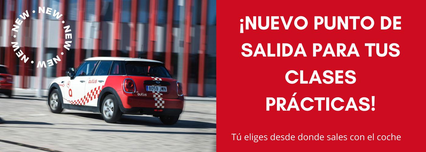 banner nuevos puntos de salida clases practicas San Miguel Zaragoza